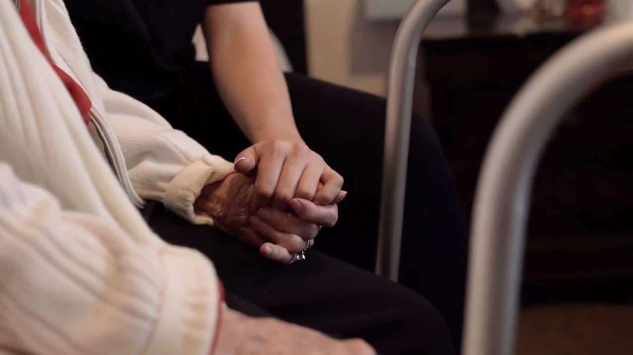 Holding Hands - Vision Loss